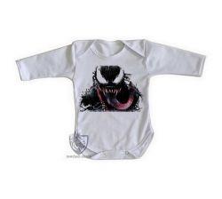 Roupa Bebê manga longa Venom Vilão