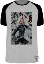 Camiseta Raglan Black Widow