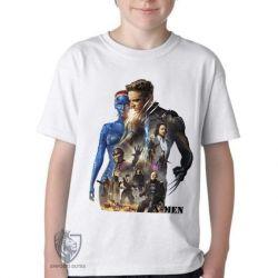 Camiseta Infantil   X Men personagens