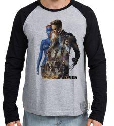 Camiseta Manga Longa   X Men personagens