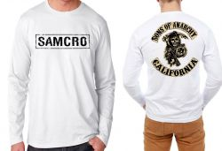 Camiseta Manga Longa Samcro sons of anarchy
