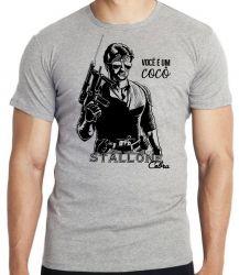 Camiseta Stallone Cobra você é um cocô