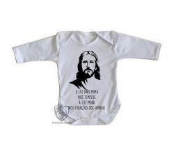 Roupa Bebê manga longa Luz de Jesus