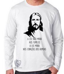 Camiseta Manga Longa Luz de Jesus