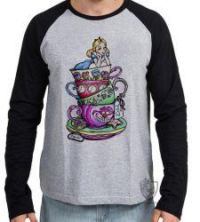 Camiseta Manga Longa  Alice & Gato