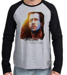 Camiseta Manga Longa William Wallace Coração Valente