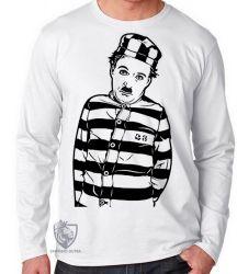 Camiseta Manga Longa Charlie Chaplin Ator