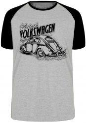 Camiseta Raglan Fusca Volkswagen Vintage