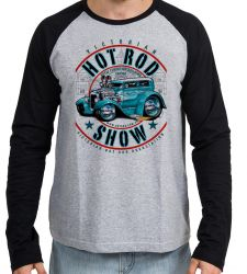 Camiseta Manga Longa Carro antigo Hot Rod