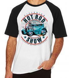 Camiseta Raglan Carro antigo Hot Rod