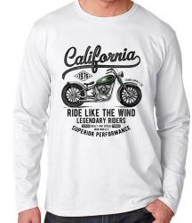 Camiseta Manga Longa Califórnia Moto Harley