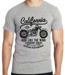 Camiseta Infantil Califórnia Moto Harley