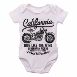 Roupa Bebê  Califórnia Moto Harley