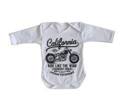 Roupa Bebê manga longa  Califórnia Moto Harley