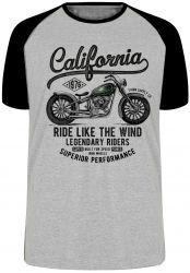 Camiseta Raglan  Califórnia Moto Harley