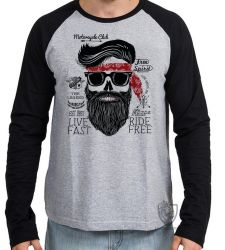 Camiseta Manga Longa Moto Cycle Club