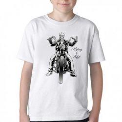 Camiseta Infantil Moto Highway