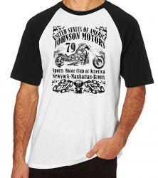 Camiseta Raglan  Moto Johnson Motors