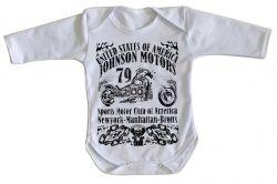 Roupa Bebê manga longa Moto Johnson Motors