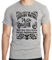 Camiseta Infantil Moto Johnson Motors