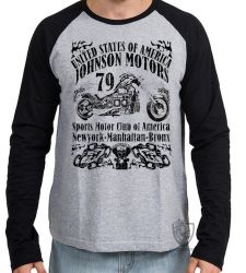 Camiseta Manga Longa Moto Johnson Motors