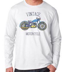 Camiseta Manga Longa Moto Vintage