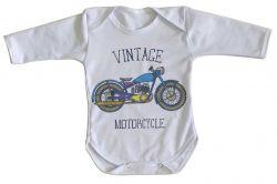 Roupa Bebê manga longa Moto Vintage
