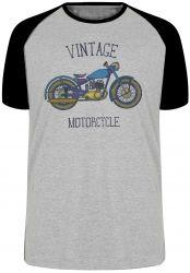 Camiseta Raglan  Moto Vintage