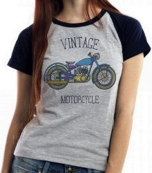 Blusa Feminina Moto Vintage