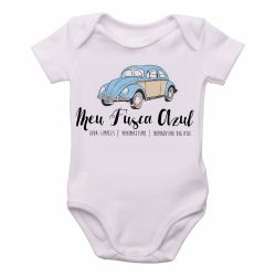 Roupa Bebê Meu Fusca Azul