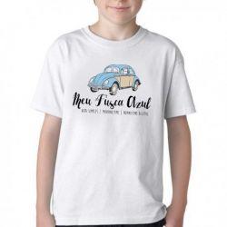 Camiseta Infantil Meu Fusca Azul