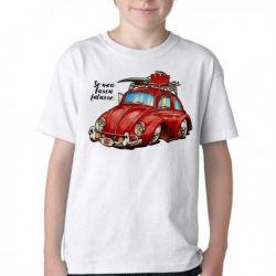 Camiseta Infantil Se meu Fusca falasse
