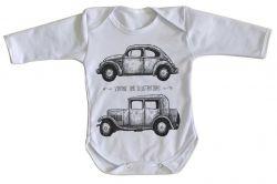 Roupa Bebê manga longa Carro Antigo