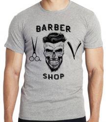 Camiseta Infantil Barbeiro Shop Barbearia