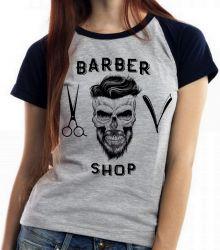 Blusa Feminina Barbeiro Shop Barbearia