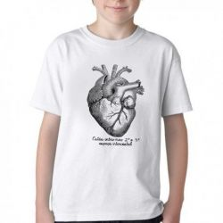 Camiseta Infantil Coração Enfermagem Medicina