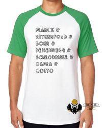 Camiseta Raglan Físicos Quânticos