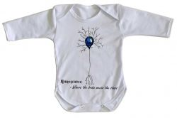 Roupa Bebê manga longa Neurônio Humano