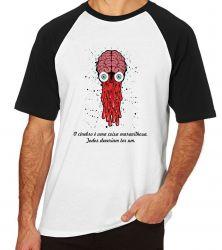 Camiseta Raglan Cérebro todos deveriam ter um