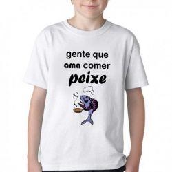 Camiseta Infantil Peixe Pesca Pescador