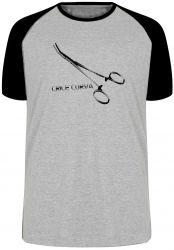 Camiseta Raglan Pinças Médico Enfermeira