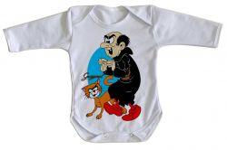 Roupa Bebê manga longa Gargamel