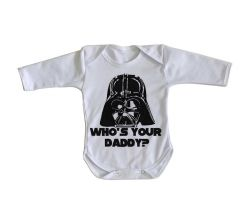 Roupa Bebê manga longa Darth Vader Daddy