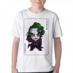 Camiseta Infantil Coringa Carta