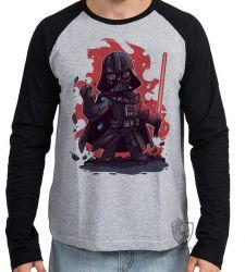 Camiseta Manga Longa Darth Vader Fogo
