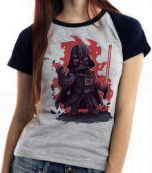 Blusa Feminina Darth Vader Fogo