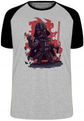 Camiseta Raglan Darth Vader Fogo