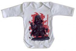 Roupa Bebê manga longa Darth Vader Fogo