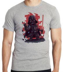 Camiseta Infantil Darth Vader Fogo