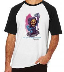 Camiseta Raglan Esqueleto He Man